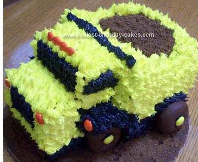 Homemade Dump Truck Birthday Cake