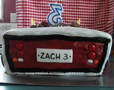 Homemade DumpTruck Birthday Cake