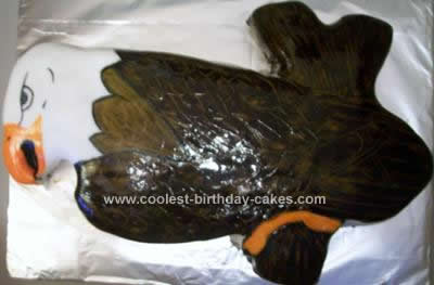 Homemade Eagle Birthday Cake Idea