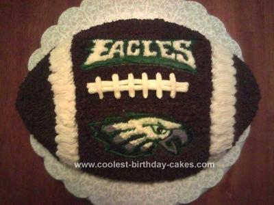 Homemade Eagles Football Birthday Cake
