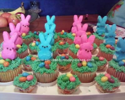 Homemade Easter Basket Cupcakes