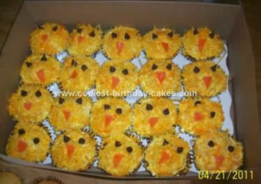 Homemade Easter Chick Cupcakes