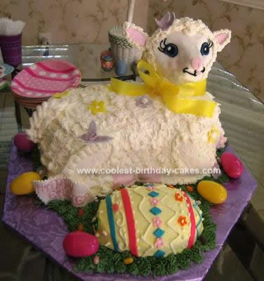 Homemade Easter Egg Lamb Cake