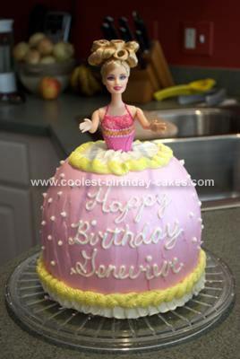 Homemade Easy Barbie Cake