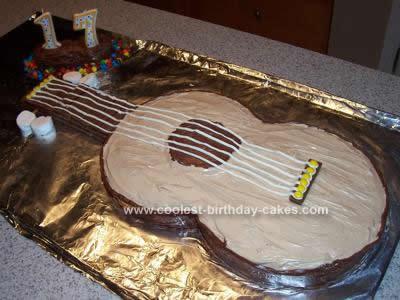 Homemade Easy Guitar Cake