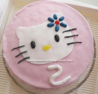 Homemade Easy Hello Kitty Cake