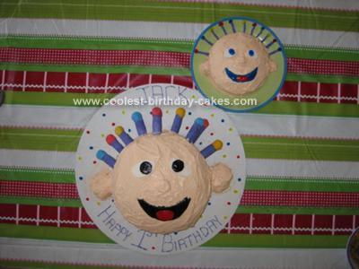 Homemade Eebee Baby Cake