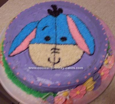 Homemade Eeyore Birthday Cake