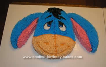 Homemade Eeyore Birthday Cake Design