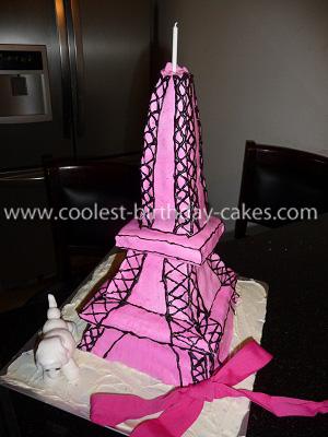 Homemade Eiffel Tower Cake