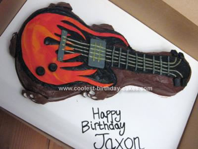 Homemade Electric Guitar Birthday Cake