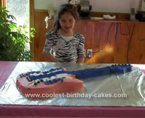 Homemade Electric Guitar Cake