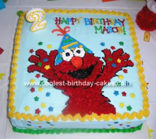 Mason's Elmo Cake