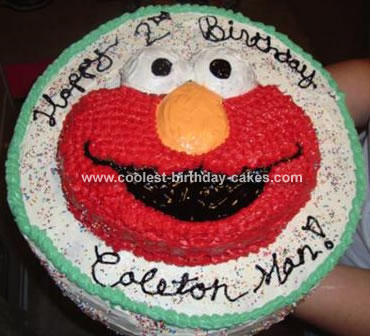 The Giant Elmo Cake!