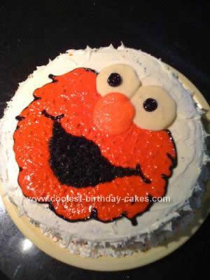 Homemade Elmo Cake Idea