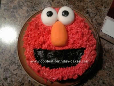 Homemade  Elmo Smash Birthday Cake