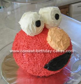 Elmo Sphere Cake