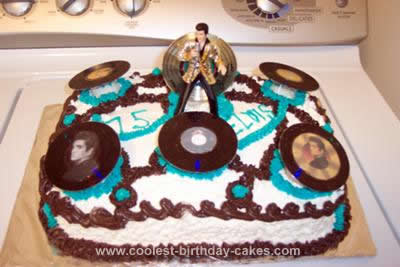 Homemade Elvis Presley Birthday Cake