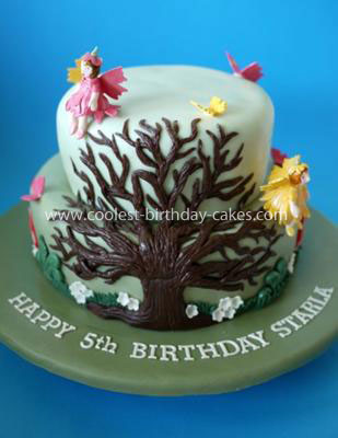Homemade Enchanted Forest Cake