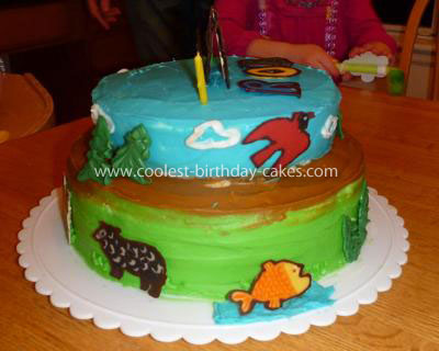 Homemade Eric Carle Brown Bear, Brown Bear, What do you see Cake