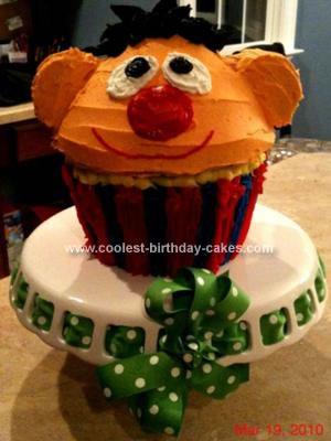 Homemade Ernie Cupcake Cake Pan Cake
