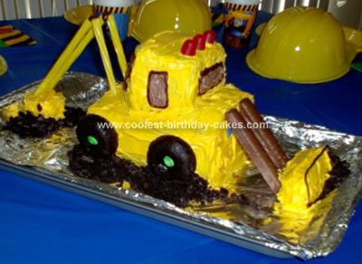 Homemade Excavator Birthday Cake