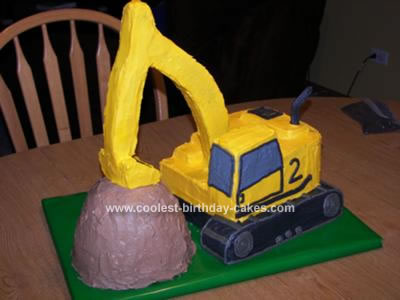 Excavator Coloring Pages. excavator cake
