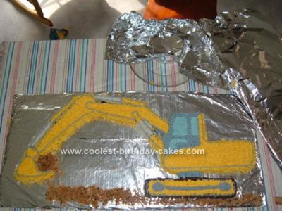 Homemade Excavator Cake Idea