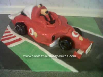 Homemade F1 Car Birthday Cake