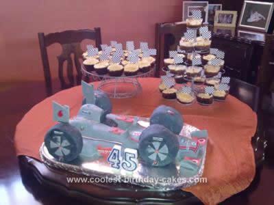 Homemade F1 Mercedes 45th Birthday Cake