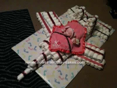 Homemade F15 Diaper Cake Design