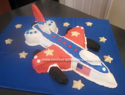 Homemade F16 Airplane Cake