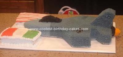 Homemade F16 Airplane Cake