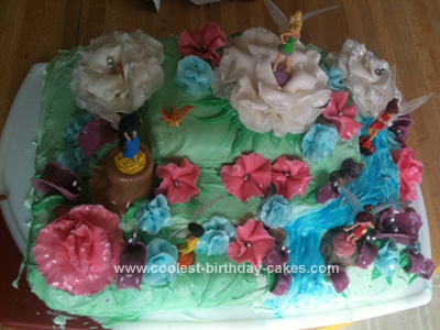 Homemade Fairy Birthday Cake Design