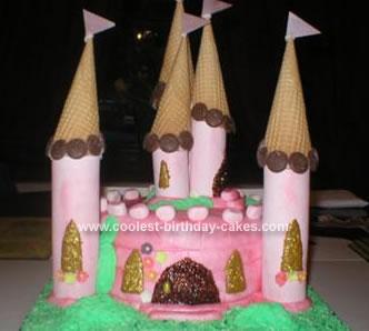 Homemade Fairy Castle Birthday Cake