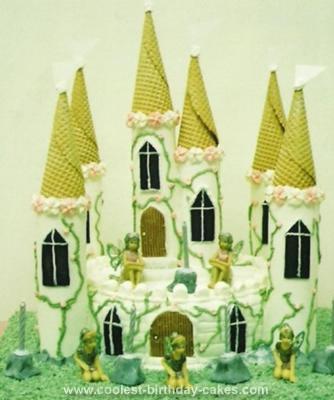 Homemade Fairy Castle Cake