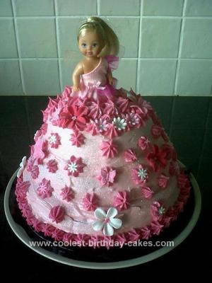Homemade Fairy Doll Cake