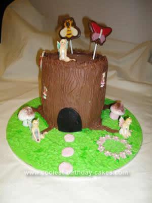 Homemade Fairy Garden Birthday Cake