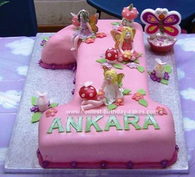 Homemade Fairy Garden Cake