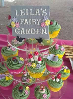 Homemade Fairy Garden Cupcakes