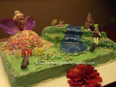Homemade Fairy Land Birthday Cake