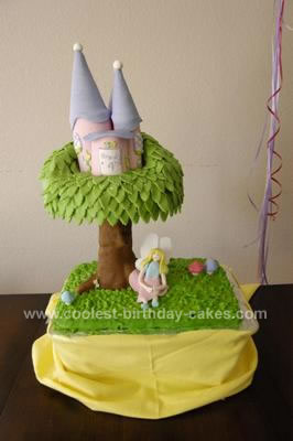 Homemade Fairy Tree House Cake