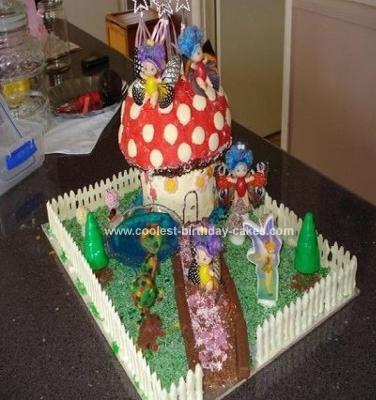 Homemade Fairyland Grotto Cake