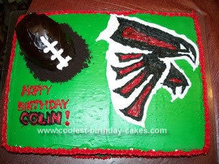 Homemade Falcon's Football Cake