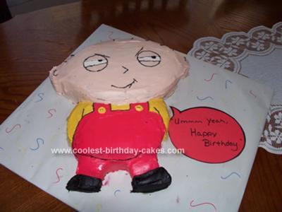 Homemade Family Guy  Stewie Cake
