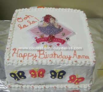 Homemade Fancy Nancy Bonjour Butterfly Cake