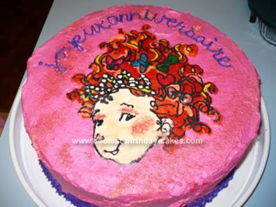 My daughter wanted a Fancy Nancy cake for her 6th birthday and I couldn't