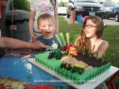 Homemade Farm Tractor Cake