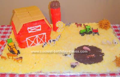 Homemade Farmyard Birthday Cake