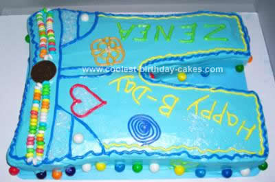Homemade Fashion Jeans Birthday Cake